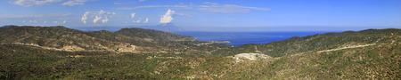 sithonia: Panorama della costa egea. Penisola di Sithonia nella Grecia settentrionale.