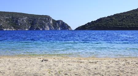 sithonia: Spiaggia di Porto Koufo. Baia di Mar Egeo. Penisola di Sithonia. Grecia. Archivio Fotografico