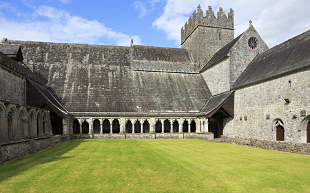 county tipperary: Courtyard of Holycross Abbey. County Tipperary in Ireland.