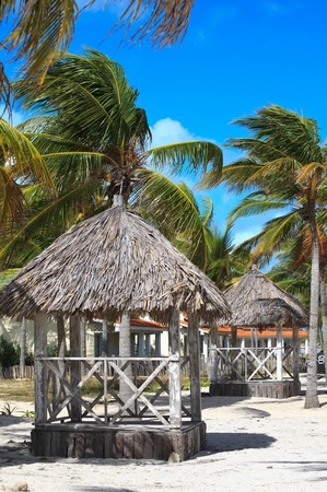 trees services: Veranda at the hotel Sol Cayo Guillermo. Cuba. Stock Photo