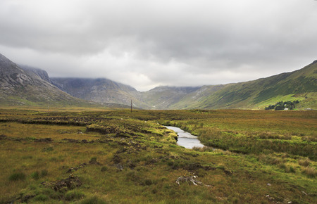connemara: National park Connemara in summer. County Galway in Ireland. Stock Photo