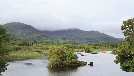 lough: Ross Bay Lough Leane Lower Lake. Ring of Kerry in Ireland.