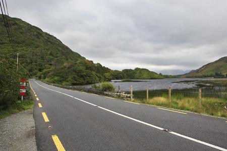 connemara: Road in National park Connemara. County Galway in Ireland.