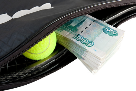 elites: Tennis - a very expensive sport. Isolated background. Stock Photo
