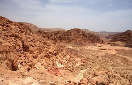 sinai: Colored Canyon. Mountains of Sinai in Egypt.
