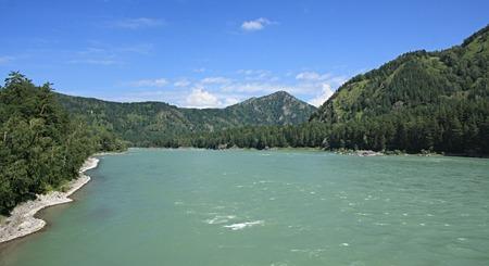 katun: Mountain river of Katun. Altai in Russia.