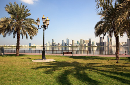 embankment: Embankment. Khalid Lagoon. Sharjah.