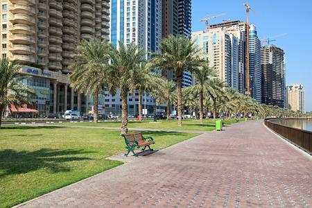 sharjah: Embankment. Khalid Lagoon. Sharjah.