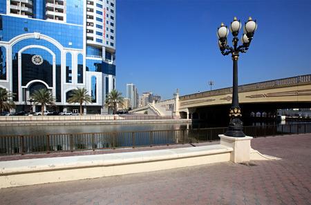 sharjah: Urban landscape. Modern Sharjah in the UAE. Stock Photo