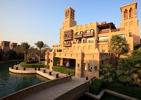 Area of the Madinat Jumeirah complex. Dubai. UAE. 스톡 콘텐츠