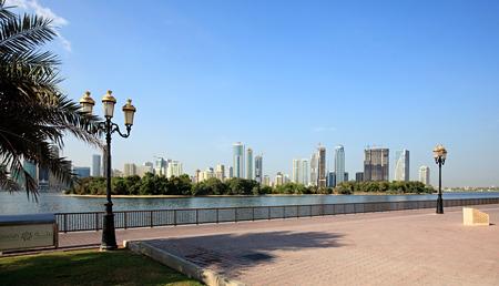 embankment: Embankment. Khalid Lagoon. Sharjah in the UAE