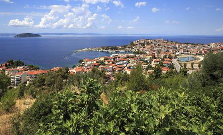 sithonia: Neos Marmaras. Bella citt� sulla penisola di Sithonia. Archivio Fotografico