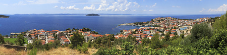 sithonia: Neos Marmaras. Beautiful town on the Sithonia peninsula. Stock Photo