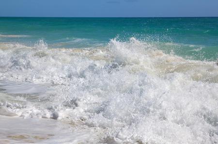 bustling: Bustling Caribbean Sea. Playa los Cocos. Cayo Largo. Cuba.