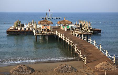 Pier Beach Hotel. Middellandse Zee. Belek in Turkije Stockfoto - 35431748