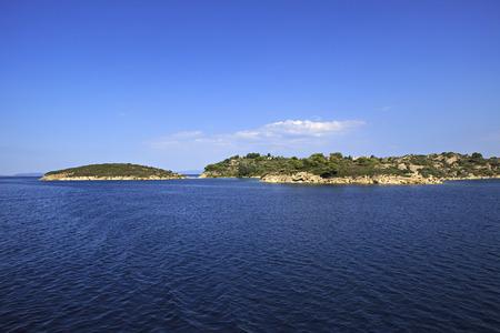 sithonia: Penisola di Sithonia nel Mar Egeo in Grecia.