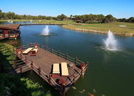 Area of Sueno Golf Club. Belek. Turkey. 스톡 콘텐츠