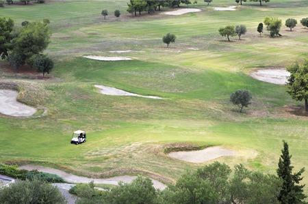 sithonia: Sithonia, Grecia - 23 luglio 2014: splendido campo da golf di Porto Carras Grand Resort. Sithonia. Editoriali