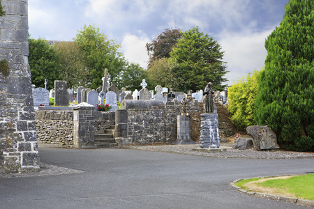 county tipperary: Tipperary, Ireland - August 23, 2014: Cemetery in the Holycross Abbey. County Tipperary in Ireland.