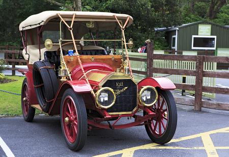 connemara: Connemara, Ireland - August 26, 2014: Retro car Pierce-Arrow in the parking. Ireland. Editorial