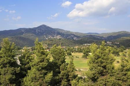 sithonia: Sithonia, Grecia - 19 luglio 2014: Territorio di Porto Carras Grand Resort. Grecia Editoriali