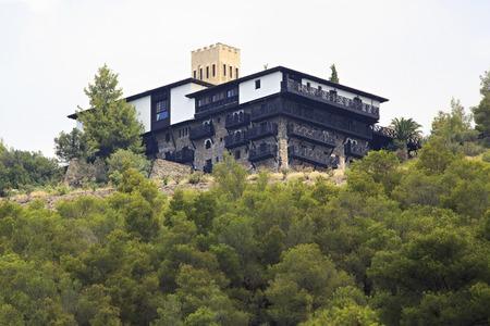 sithonia: Sithonia, Greece - July 23, 2014: Villa Galini Porto Carras. Sithonia.