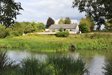 county tipperary: Tipperary, Ireland - August 23, 2014: House on the banks of River Suir. County Tipperary in Ireland.