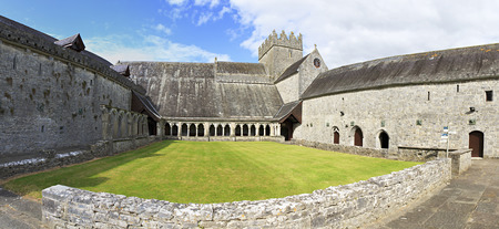 county tipperary: Tipperary, Ireland - August 23, 2014: Courtyard of the Holycross Abbey. County Tipperary in Ireland.