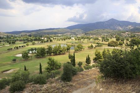 sithonia: Sithonia, Greece - July 23, 2014: Golf course of Porto Carras Grand Resort.