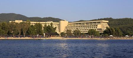sithonia: Sithonia, Greece - July 24, 2014: Porto Carras Meliton in Sithonia.
