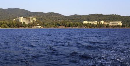 sithonia: Sithonia, Grecia - 24 luglio 2014: Porto Carras Grand Resort in Sithonia. Editoriali