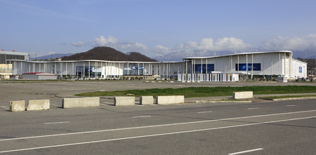 media center: Sochi, Russia - February 15, 2015: Main media center of the Olympic Winter Games 2014. Now Exhibition Centre.