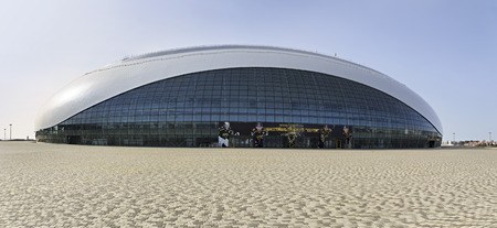 sochi: Sochi, Russia - February 15, 2015: Bolshoy Ice Dome. Arena will host HC Sochi, a newly founded team of KHL.