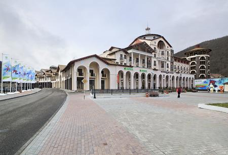 gorki: Sochi, Russia - February 13, 2015: Gorki Plaza in the Esto Sadok