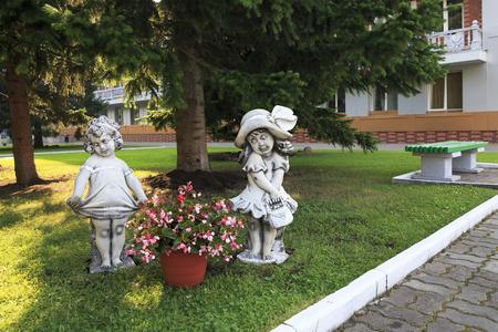 belokurikha: Belokurikha, Russia - August 02, 2013: Sculpture of children at the Sanatorium Centrosouz Editorial