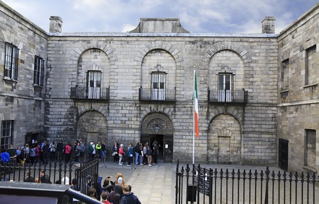 gaol: Dublin, Ireland - August 19, 2014: Kilmainham Gaol is now a museum run by the Office of Public Works
