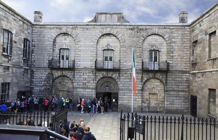 Dublin, Ireland - August 19, 2014: Kilmainham Gaol is now a museum run by the Office of Public Works