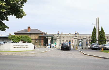 headquaters: Dublin, Ireland - August 27, 2014: An Garda Siochana Headquaters