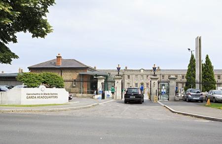 headquaters: Dublin, Ireland - August 27, 2014: An Garda Siochana Headquaters