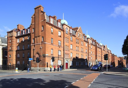 city centre: Dublin, Ireland - August 19, 2014: Residential building in the center of Dublin. Editorial