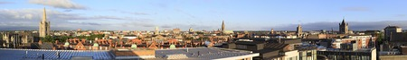 city centre: Dublin, Ireland - August 19, 2014: Morning panorama of center in the Dublin. Editorial