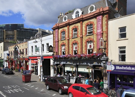 city centre: Dublin, Ireland - August 19, 2014: different architecture of the city Dublin.