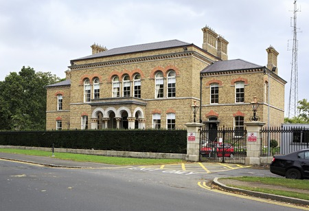rd: Dublin, Ireland - August 27, 2014: Administrative building on North Rd Editorial
