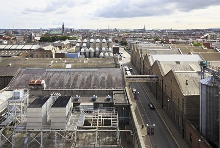 Dublin, Ireland - August 20, 2014: Plant from the observation deck of Guinness Storehouse