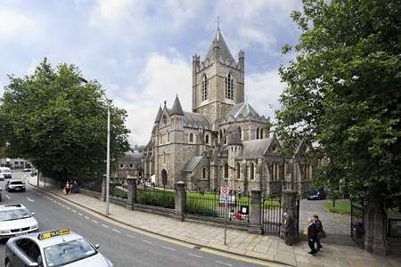 city centre: Dublin, Ireland - August 19, 2014: Cathedral of the Holy Trinity in Dublin