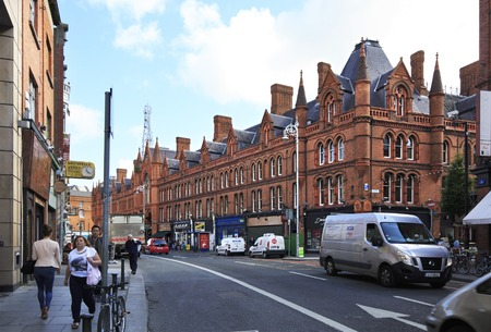 city centre: Dublin, Ireland - August 19, 2014: Historic building in the center of Dublin.
