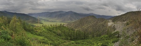 north ridge: Storm clouds over the North Chuya ridge of Altai Mountains.