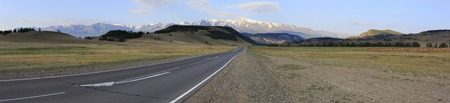 altai mountains: Beautiful panorama of Chuysky Trakt in the Altai Mountains.