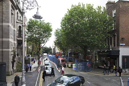 city centre: Dublin, Ireland - August 19, 2014: Central streets of the Dublin in Ireland.