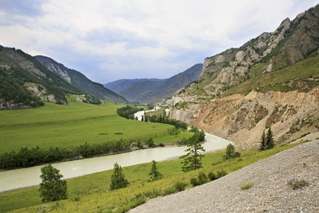 katun: Beautiful views of the River Chuya near Chuysky Trakt Stock Photo